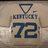 Uk Football Jersey all buttercream icing, fondant decorations