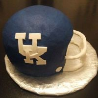 Uk Football Helmet Buttercream icing. Fondant decorations