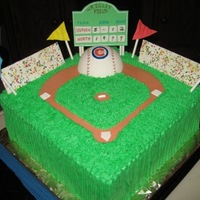Cubs Baseball Birthday Cake  I made this for a Cubs baseball fan for a surprise for his birthday. It was a big hit with everyone that attended the party. It was fun to...
