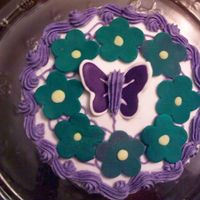 Butterfly buttercream, and colorflow