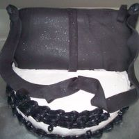 Little Black Purse fondant and buttercream