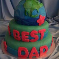 World's Best Dad Made with fondant.
