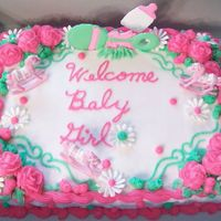 Baby Shower Buttercream and colorflow