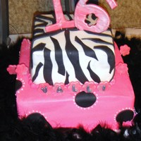 Sweet 16 Cake was white and pink swirled, with hot pink buttercream filling. All she wanted was pink, pink, everywhere! First time doing zebra...