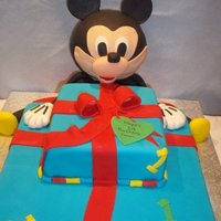 Mickey Mouse Cake this cake came out better than i thought, but was also harder than i thought!