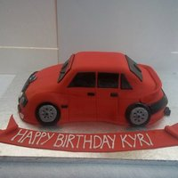 My First Car Cake