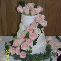 Pink Roses Pink Rose Wedding Cake