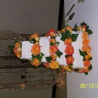 Orange Roses Orange rose wedding cake