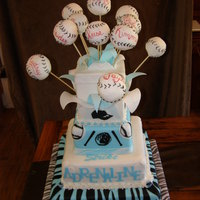 Granddaughter's Softball Team's Cake