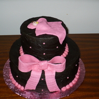 Chocolate With Pink Fondant