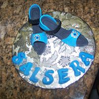 Nobody Puts Baby In A Corner!  These are my offiicial first pair of shoes I made for a friend of mine who's a salsa dancer like me! I made them as a gift for her...