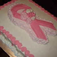 Breast Cancer Ribbon Cake I did two of these cakes and donated the to a Breast Cancer Fundraiser.