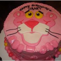 Pink Panther Done for a girl turning 30 who loves Pink Panther. Strawberry cake with cream cheese icing. I took a Pink Panther coloring page and used it...