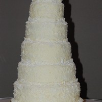 Abel Wedding This is buttercream iced with shaved white chocolate. Bride liked the Martha Stewart version but the groom didn't like coconut so we...