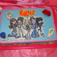 Bratz I got the idea of adding the little girl's photo for one of the Bratz from KimmysKakes.
