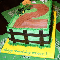 John Deere Tractor Neopolitan layered cake. Really fun to make! The two year olds loved it! Thanks Melvira and Chass for your help!