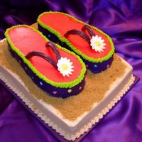 Flip Flops Another Flip Flop Cake. Really fun to make!