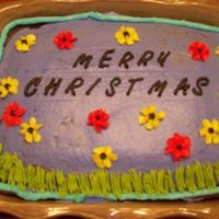 "Merry ""spring"" Christmas I made this with the help of my (hopefully to be SIL) brother's girlfriend Christmas morning. I was not planning on making a cake for..."