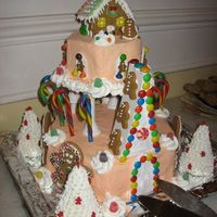 Christmas In The Gingerbread Kingdom this started off as a wilton castle, but other decorations obviously took over! made it for an office christmas party, and it was lots of...
