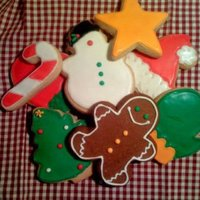 Christmas Cookie Assortment 1/4 inch Sugar Cookies with Royal Icing - Christmas Assortment