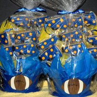 Megaphone Cookie Bouquet Blue megaphone bouquet - Cheer gifts for Kleb Cheerleaders