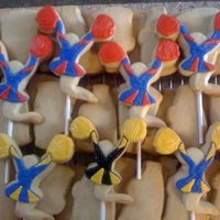 Cheerleader Cookies Sugar Cookie Cheerleaders for Klein Collins, Klein Oak, and Klein High SChool Cheerleading Try Outs