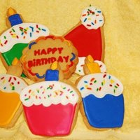 Birthday Cookie Assortment 1/4 inch Sugar Cookies with Royal Icing and sprinkles - Happy Birthday Assortment
