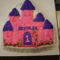 Castle Cake.. I am new at this so I used a Wilton pan. It's white cake with bc icing..