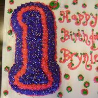Number 1 Cake.. This number 1 cake was a little girl's own personal cake.. She had fun digging in!!