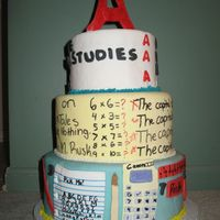 Ossas Junior Division School Cake A fondant covered cake with writing and fondant accents. My entry for the OSSAS. I didn't win any prizes.
