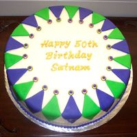 Birthday Cake With Mardi Gras Theme