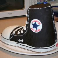 Chuck Taylor Took Over My Kitchen For A Weekend... This was a cake I made for my brother's 19th birthday last summer. It is my first real specialty cake and took HOURS to make. I am...