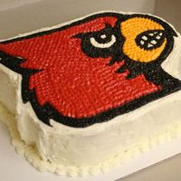 Go Cardinals! I made this cake for a gentleman I work with who is a huge Louisville Cardinals fan. He is from Kentucky and I made this cake for his...