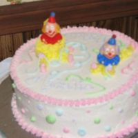 Second Week Wilton Cake Course 1 Clown Cake. Pretty cute I thought considering I really don't like clowns! A lot of fun!