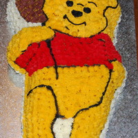 Winnie The Pooh This was a cake done for a baby shower for little Troy. It was a white cake with piped buttercream.