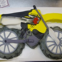 Dirt Bike Racing   multiple cake shaped into the Dirt bike Cake for a little girl