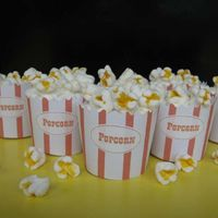Faux Popcorn Cupcakes