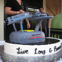 Live Long And Prosper Im not proud of this cake. I know absolutely nothing about Star Trek. On delivery, I had to slam on brakes (I was only going 25mph) and the...