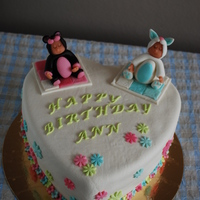 Sculpted Baby's On A Birthday Cake This cake was a surprise from a husband to his pregnant wife on her birthday. I really enjoyed sculpting the baby's, although I still...