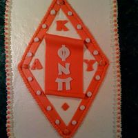 Kappa_Alpha_Psi.jpg This is a red velvet cake covered in a cream cheese frosting. I did this for a fraternity, Kappa Alpha Psi. The scroll, lettering and trim...