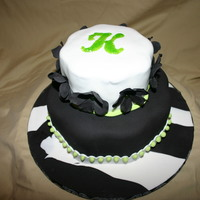 Black/white This was for my niece's birthday. She asked for black and white with a touch of green.
