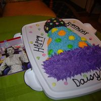 My Sister's Birthday Cake   A cake to match her card.