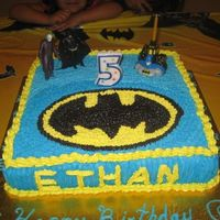 Batman   I get the inspiration from a cake in the galleries (traci).