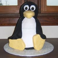 Linux Penguin This is a cake I did for a graduate that is going into website design. There were a few snags in the design but ultimately Im happy.