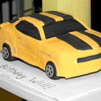 Bumblebee Camaro I made this cake for a 4 year olds b-day. It def did NOT turn out the way I wanted it but I am continuing to learn new ways of doing the 3-...