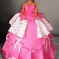 Pretty In Pink  Such a fun cake to make, they gave me a real barbie to put in, and the legs dont come off, so the cake was huge!! lolBut this is my first...