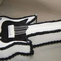 Black & White Guitar This was for the same party as the 21st black and white cake, this cake was for the young lady's brother who's birthday is a few...