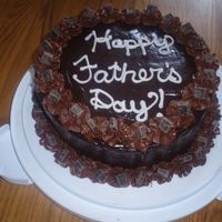 Really Chocolate Cake So I used a dark chocolate cake recipe (chocomama) with chocolate buttercream and chocolate ganache (from cheftaz). The decorations are reg...