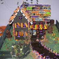 Hounted House A Halloween Gingerbread house complete with light and sound effects.