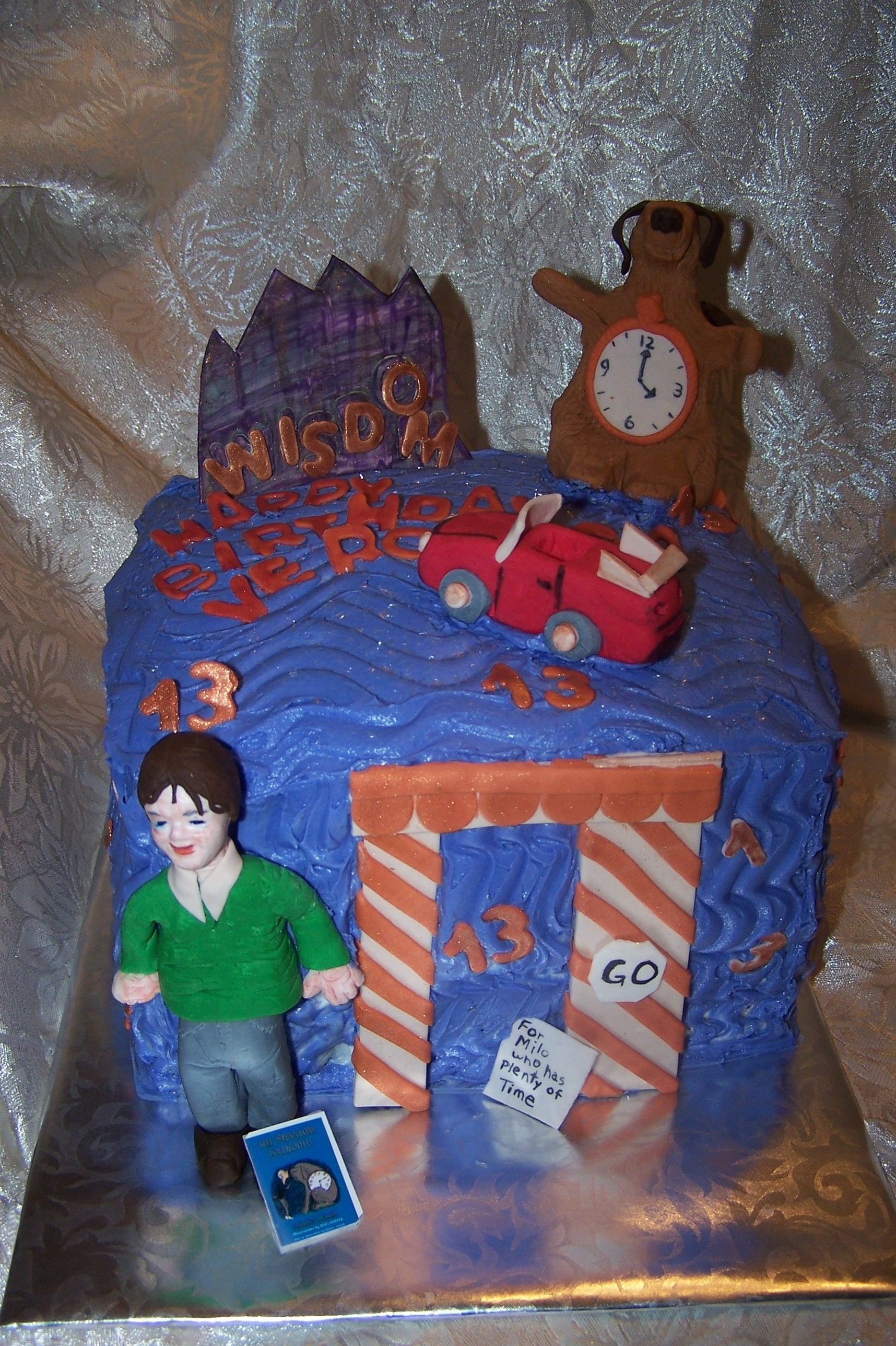 "Phantom Tollbooth Cake Based on the Story ""The Phantom Tollbooth"" which happed to be this birthday girls favorite book"